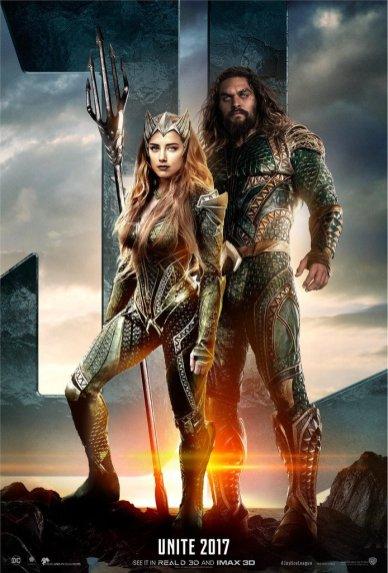 Justice League Poster: Aquaman si Mera