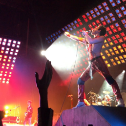 Rami Malek (Freddie Mercury) in BOHEMIAN RHAPSODY.