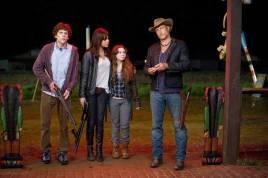 Woody Harrelson, Jesse Eisenberg, Emma Stone și Abigail Breslin - Zombieland (2009)
