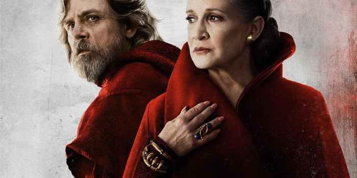 Mark Hamill (Luke Skywalker) şi Carrie Fisher (General Leia) - The Last Jedi