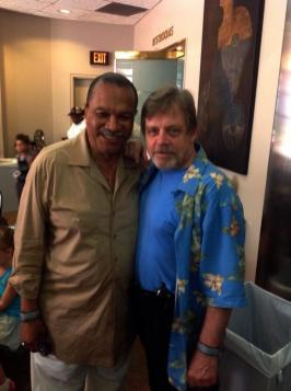 Billy Dee Williams (Lando) si Mark Hamill (Luke)