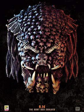 The Predator (2018) Skulls Movie Poster