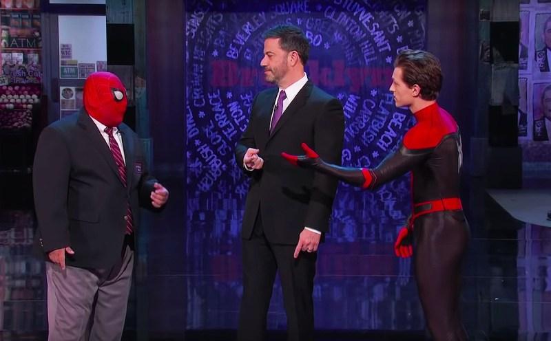 Spider-Man, a fost prezent în emisiunea lui Jimmy Kimmel Live de la ABC
