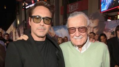 Stan Lee și Robert Downey Jr.