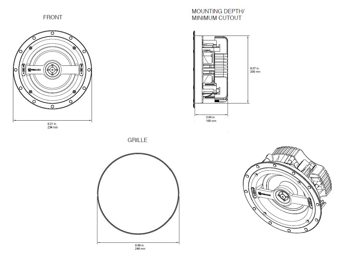 One Series Nfc 61 6 In Ceiling Speaker