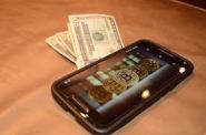 phone and money