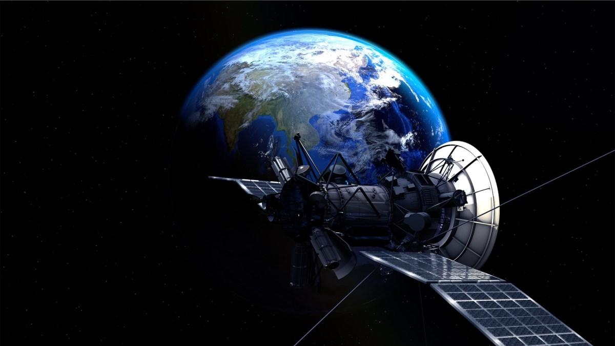 earth, man-made satellite