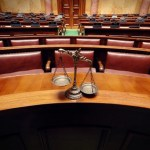 Scales of Justice in the Courtroom