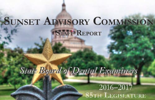 Sunset Commission Makes Decisions on State Board of Dental