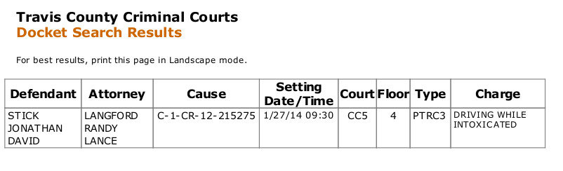 Travis County Criminal Courts Jack Stick OIG