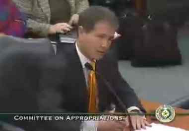 Jack Stick testifying before the House Committee on Appropriations last legislative session