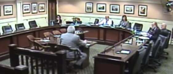 Former Texas Medicaid director Billy Millwee testifying before the California Little Hoover Commission