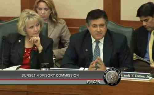 Rep. Raymond briefing the Commission on his amendments.