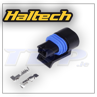 Plug and Pins Only - Delphi 2 Pin GM style Coolant Temp Connector (Black)