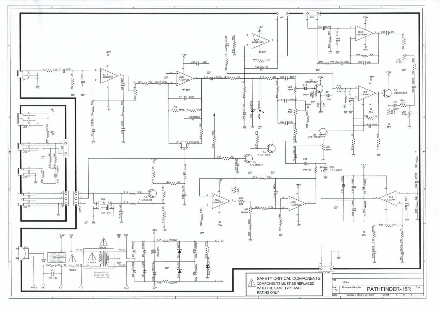 Vox Pathfinder 10 Schematic Required