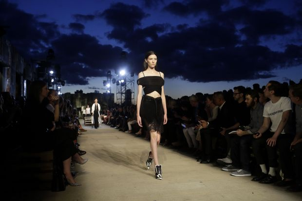 The rooftop runway at Givenchy's spring 2016 show in Manhattan. (Photo: Joshua Lott/Getty Images)