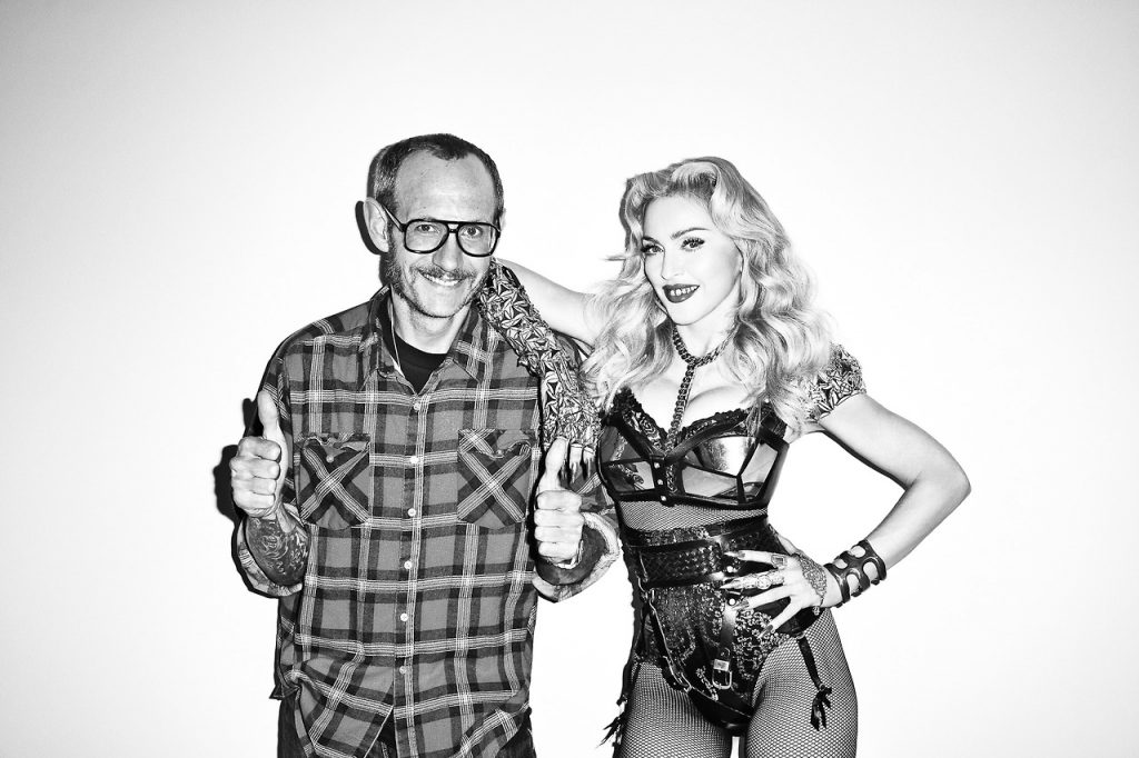 Pop singer icon, Madonna with Terry [Image: Courtesy of Harpers Bazaar]
