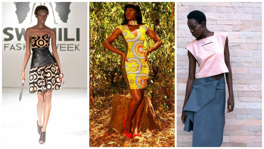From Left: Gloria Baraza [Image: Swahili Fashion Week], Winnie Michaels [Image: justbeef254] and Paynette Nyawara [Image: Susan Waiswa]