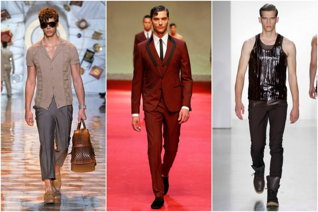 Milano Moda Uomo [Images courtesy of Versace, Dolce and Gabbana and Calvin Klein respectively]