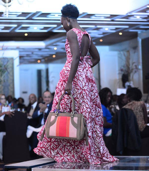 Lupita Nyong'o during her last trip to Kenya, Holding a LULEA bag [Image: Courtesy of LULEA]