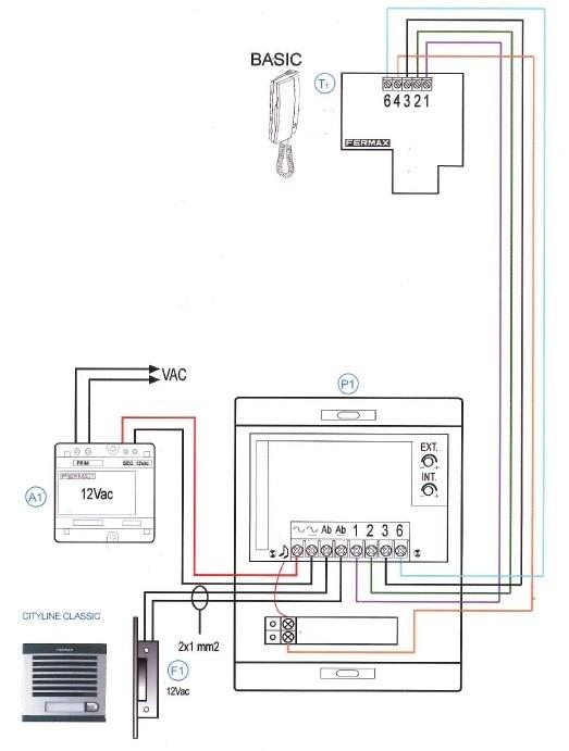 Manual de instalaci n para el kit 6201 de fermax for Instalacion portero automatico tegui