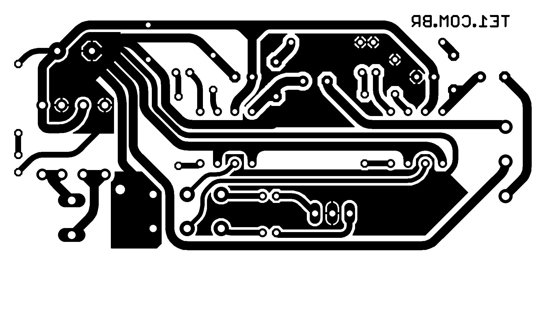 Circuito De Amplificador De Audio Estereo Com Lm386