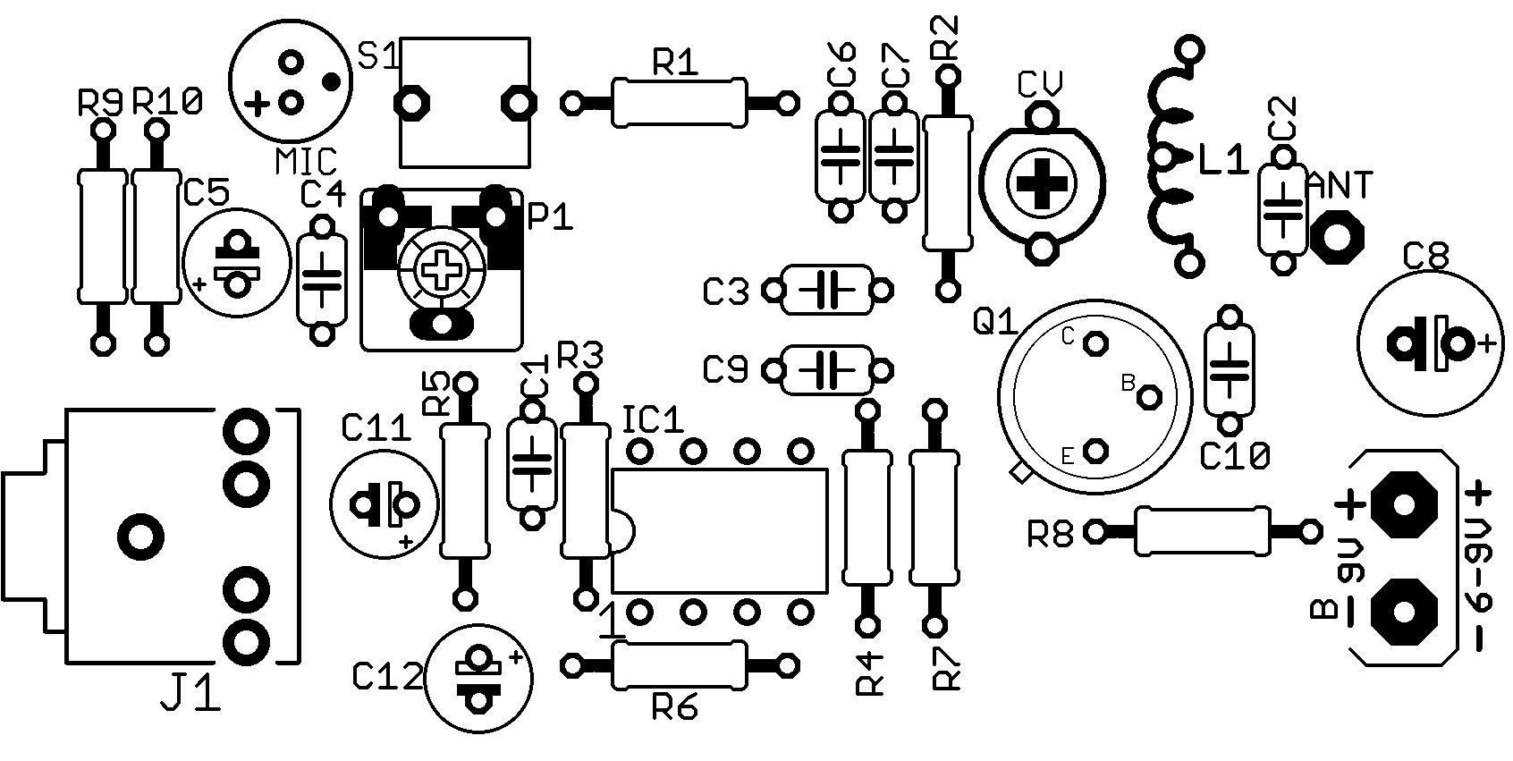 Circuito De Transmissor De Fm Com 2n Para Celular