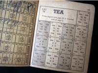 World War 2 tea ration book