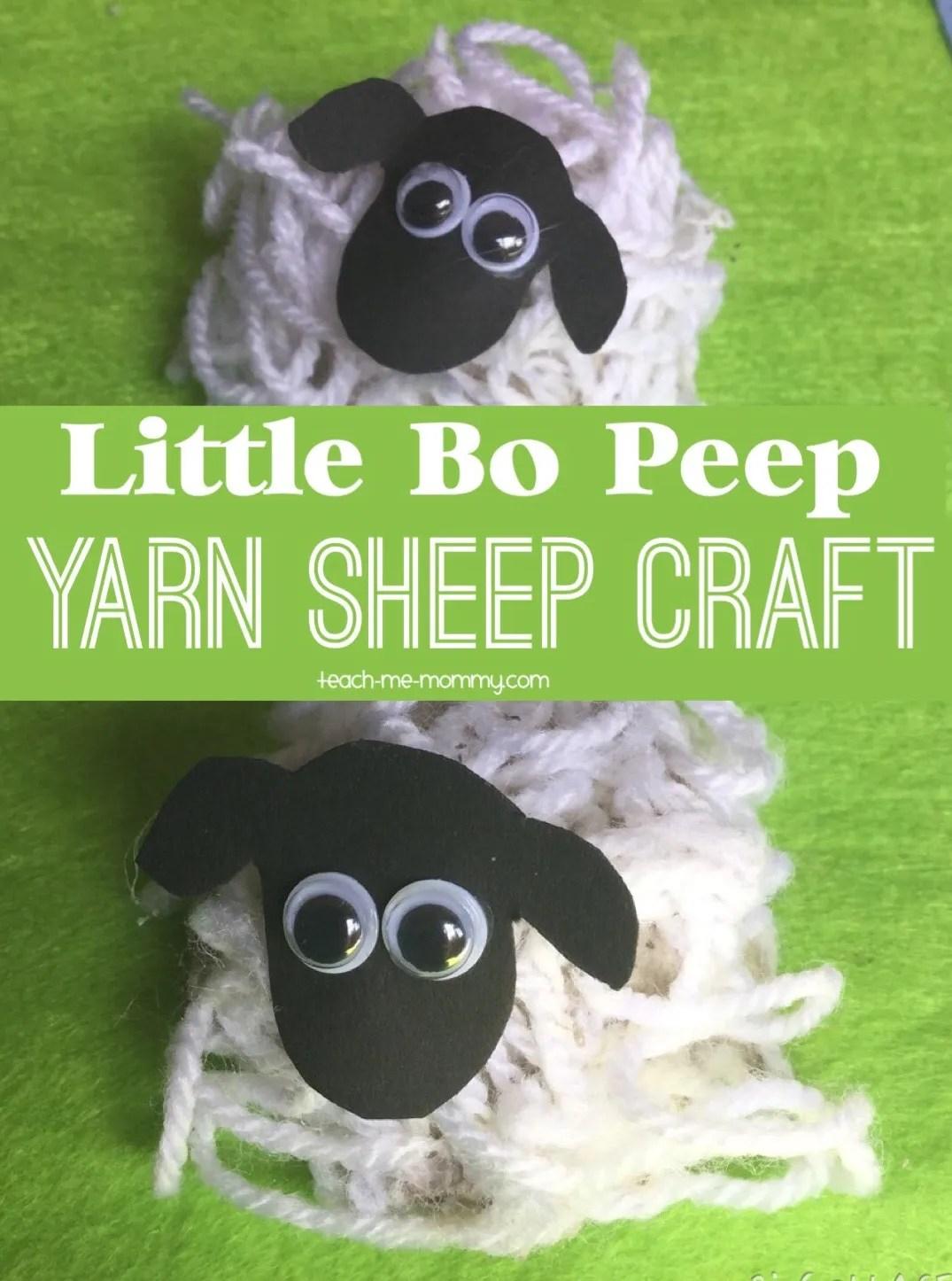 Little Bo Peep Sheep Craft