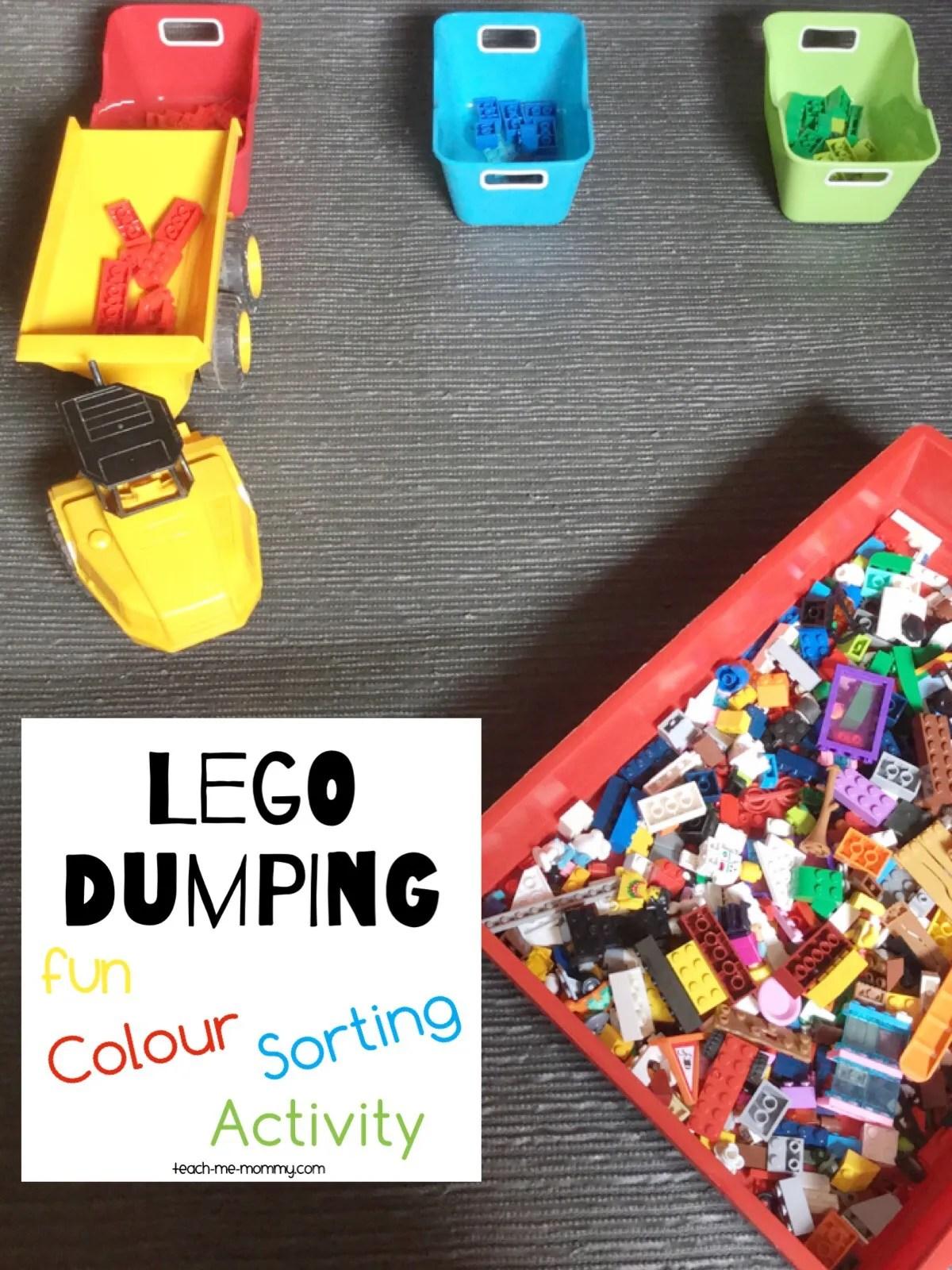 Lego Dumping Colour Sorting