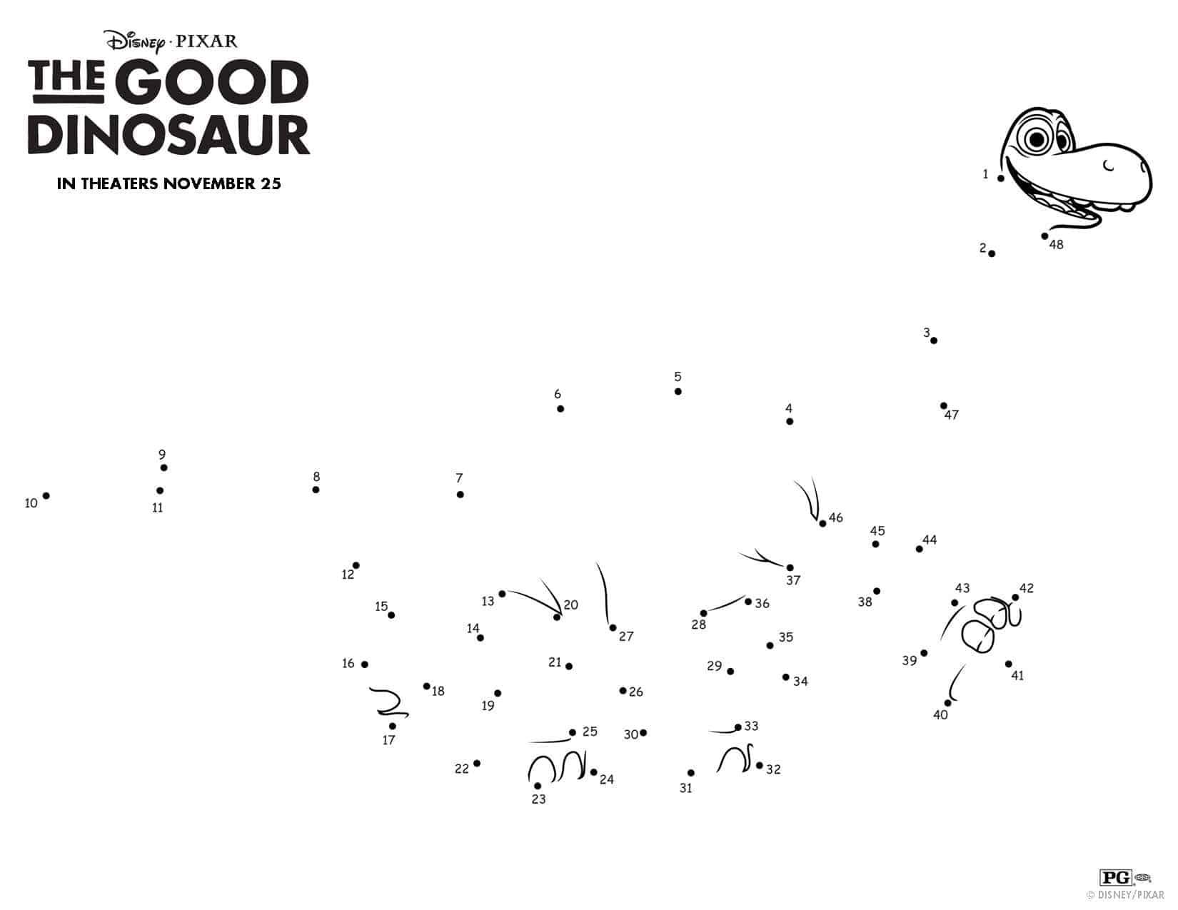 The Good Dinosaur Pumpkin Stencil And Activities