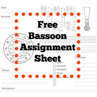 Bassoon Lesson Assignment Sheet - FREE DOWNLOAD