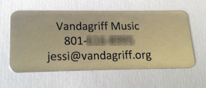 Vandagriff Music sticker