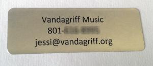 Vandagriff Music sticker