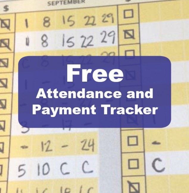 FREE attendance and payment tracker for music teachers