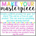 Make Your {Masterpiece} #tptsellerchallenge Week 3