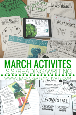 Fun and engaging classroom activities for your classroom in March!
