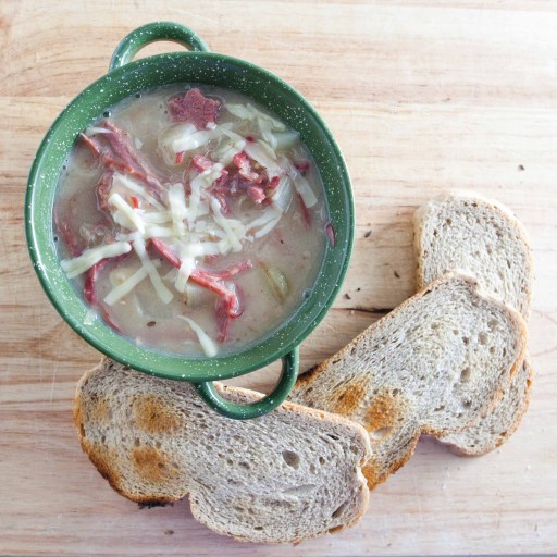 3-17 Reuben Soup with Rye Bread