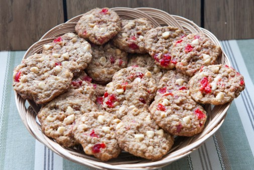 Image result for White Chocolate Cherry Oatmeal Cookies