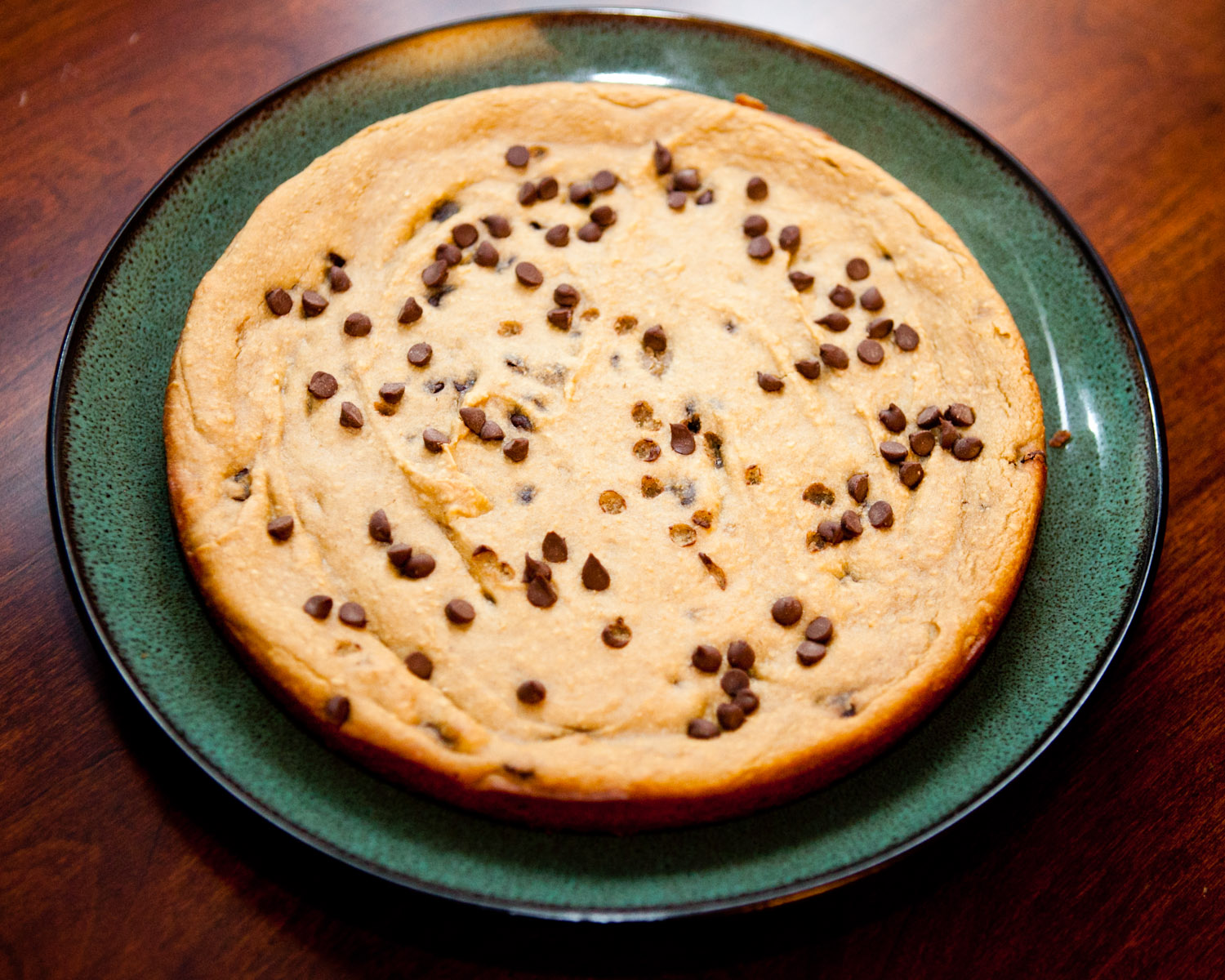 HEALTHIER Giant Chocolate Chip Cookie |