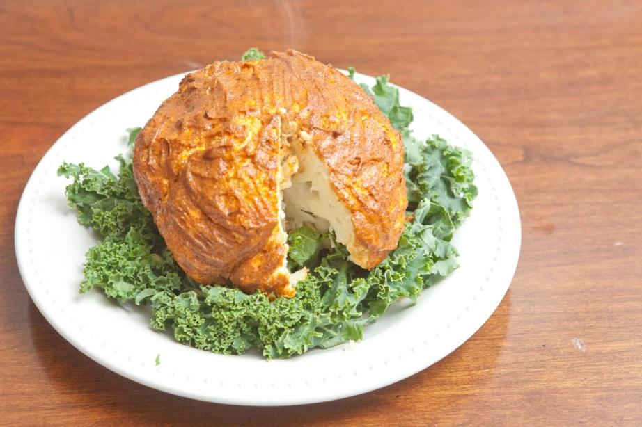 sliced roasted cauliflower