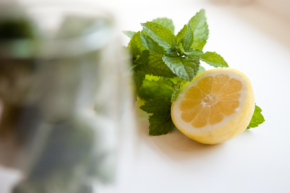 Lemon Mint Ice Cubes | via teacher-chef 5274