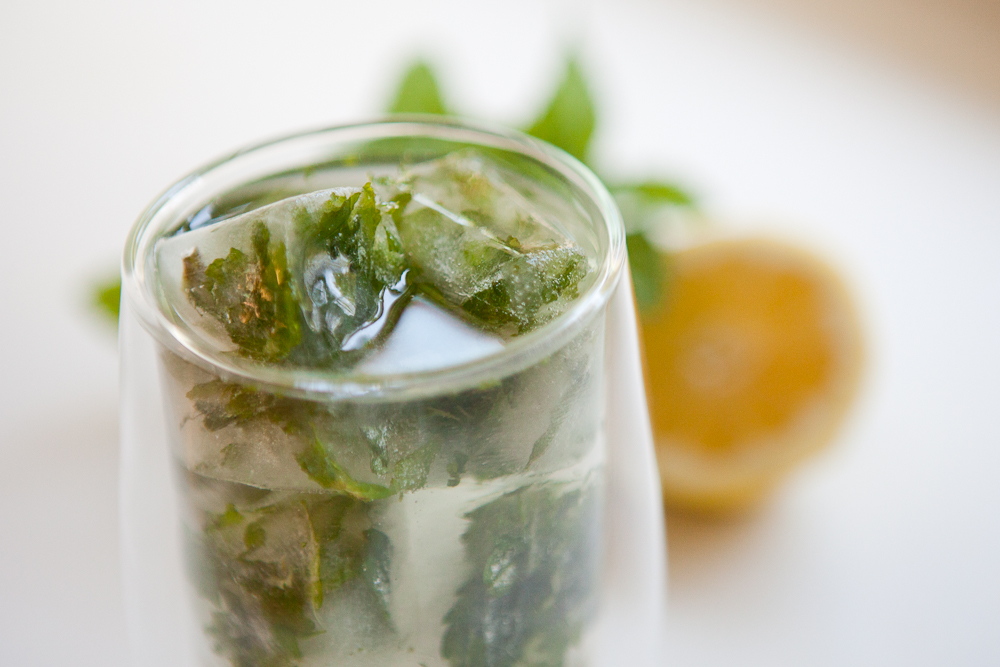 Lemon Mint Ice Cubes | via teacher-chef  5280