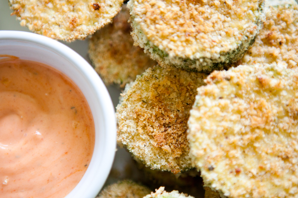 Baked Zucchini Chips | via Teacher-Chef.com 9865