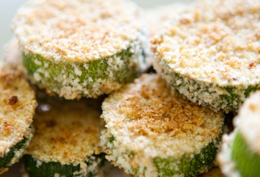 Baked Zucchini Chips | via Teacher-Chef.com 9868