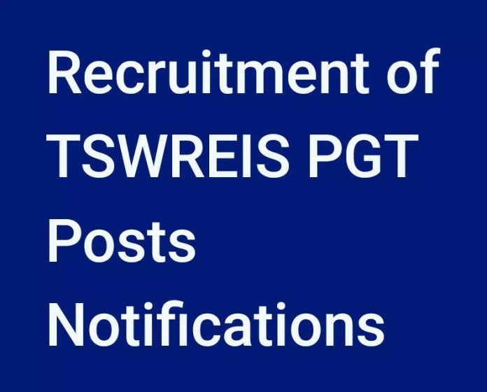 Recruitment of TSWREIS -257 PGT Posts Notifications