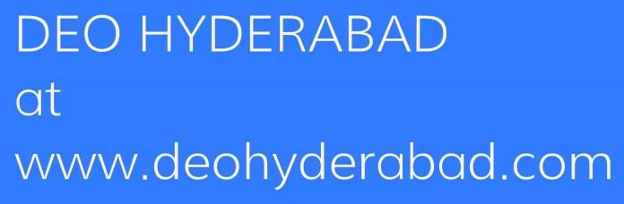DEO HYDERABAD at www.deohyderabad.com