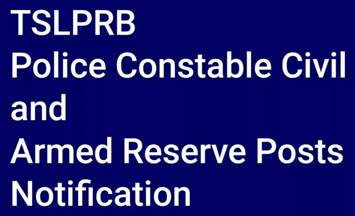 TSLPRB 3897 Police Constable Civil and Armed Reserve Posts Notification