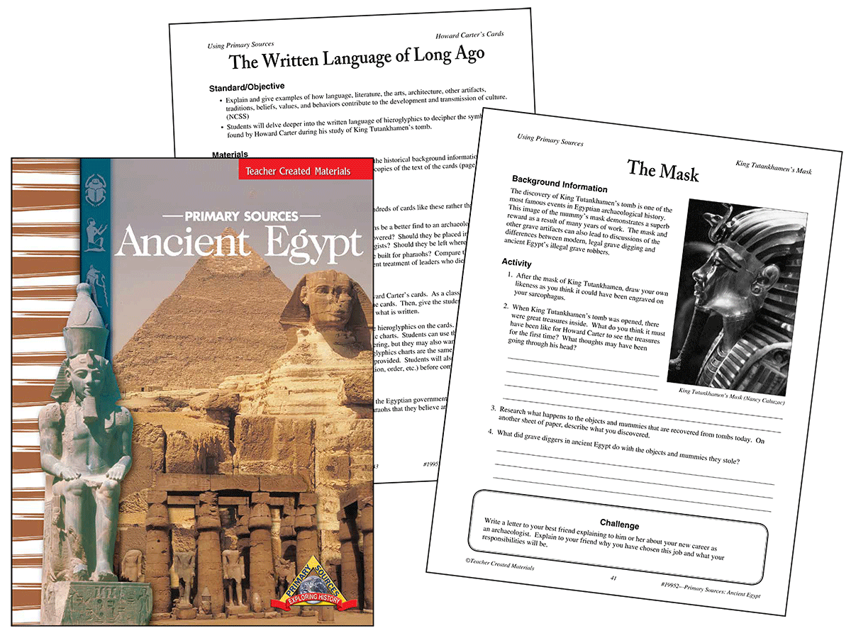Primary Sources Ancient Egypt Kit
