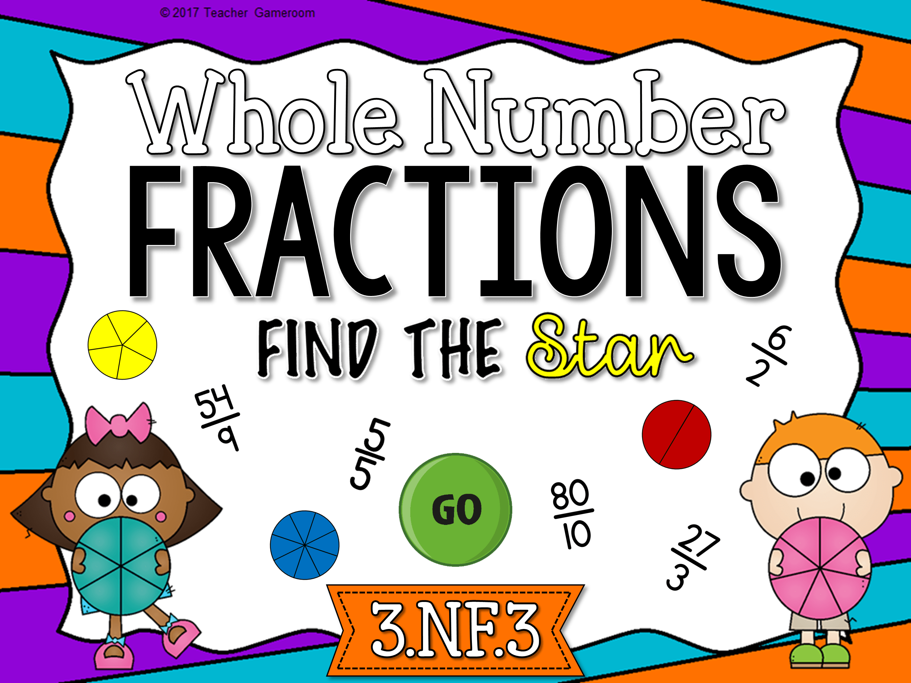 Whole Number Fractions Find The Star Game